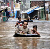 Mưa lớn gây ngập lụt tại nhiều vùng của Indonesia