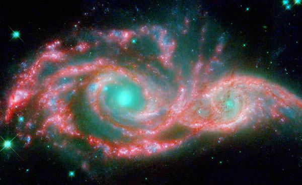 Thiên hà NGC 2207 và IC 2163.