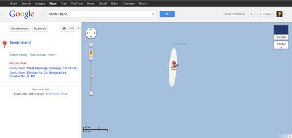 Hòn đảo bí ẩn trên Google Earth