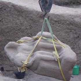 Phát hiện bức tượng Pharaoh Ramsses II tại Ai Cập