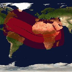 Nhật thực sẽ quét qua châu Phi, châu Âu và Mỹ