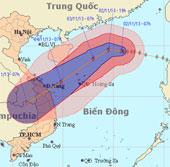 Bão Krosa có thể gây mưa lớn ở miền Trung