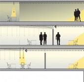 Hệ thống SmartLight có thể hướng ánh sáng vào trong các toà nhà bị khuất