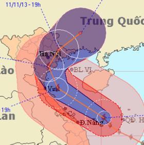 Bão Haiyan chuyển hướng vào Thanh Hóa