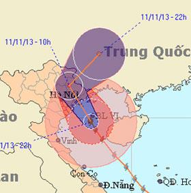 Quảng Ninh bất ngờ hứng tâm bão Haiyan