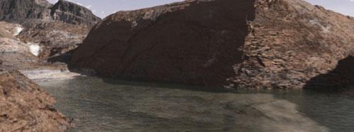 NASA tung clip sao Hỏa lênh láng nước