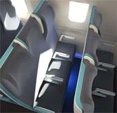 """Ghế máy bay """"co giãn"""" theo cơ thể hành khách"""