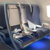 """Video: Ghế máy bay """"co giãn"""" theo cơ thể hành khách"""