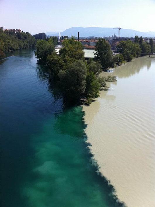 Sông Rhone và sông Arve, Geneva, Thụy Sỹ