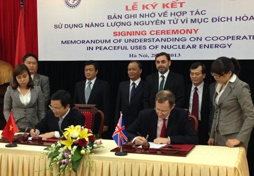 Việt - Anh hợp tác sử dụng hạt nhân vì hòa bình
