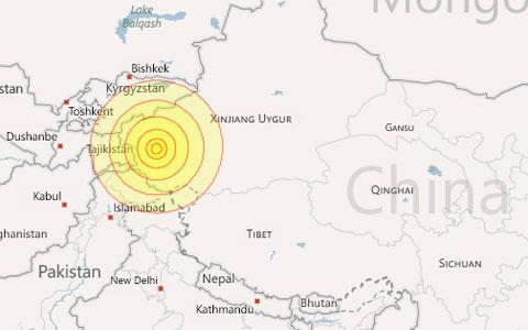Hàng trăm ngôi nhà sập vì động đất ở Trung Quốc