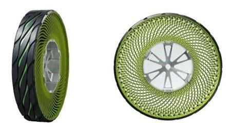 Với loại lốp không cần không khí này, người tiêu dùng không cần phải lo lắng chuyện thủng lốp.