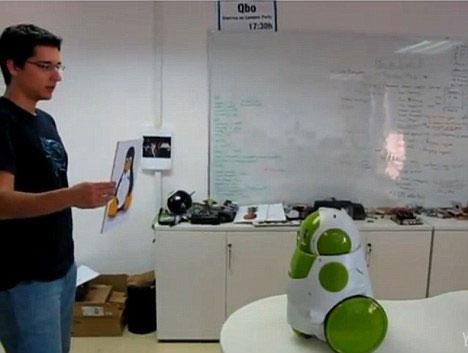 """Video: Robot """"xanh"""" biết soi gương"""