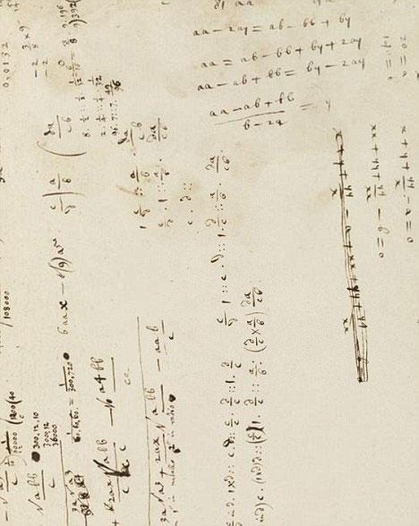 Hình ảnh: Bản thảo viết tay toán học đầu tiên của Isaac Newton