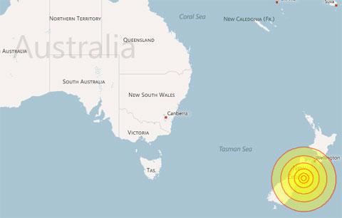 Động đất rung chuyển New Zealand