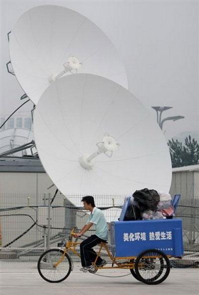 Đĩa vệ tinh tại Bắc Kinh