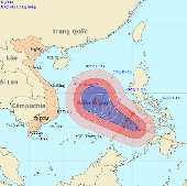 Siêu bão Bopha có thể ảnh hưởng Đà Nẵng - Vũng Tàu