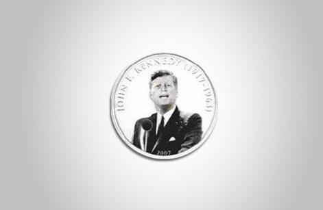 Cựu Tổng thống Mỹ John F. Kennedy trên đồng 500 Tugrik của Mông Cổ.