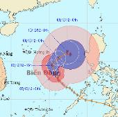Bão Bopha tiến vào Việt Nam như thế nào?