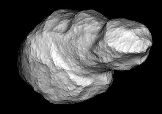 Mô hình tiểu hành tinh Toutatis được dựng trên máy tính.
