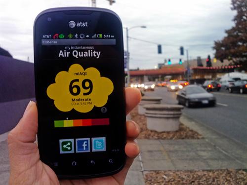 Chỉ số ô nhiễm truyền thẳng đến smartphone