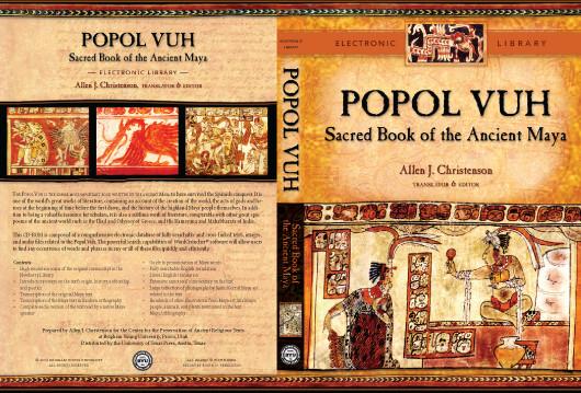 Một đĩa CD chứa nội dung cuốn sách Popol Vuh.