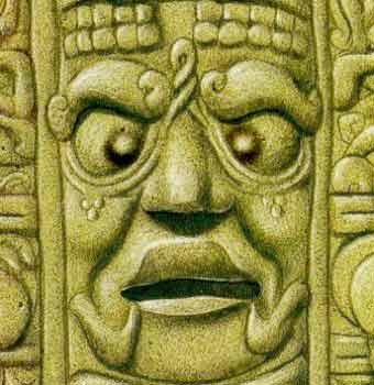 Người Maya để các vật đung đưa trước mắt trẻ mới sinh để khiến hai con ngươi của trẻ tụ vào một điểm (mắt lác) vĩnh viễn.