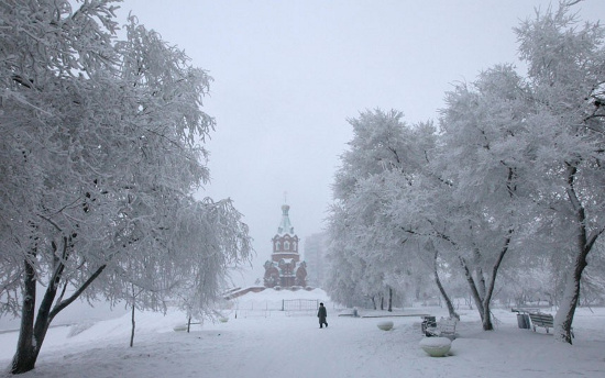 Tuyết phủ trắng nhiều thành phố tại Nga