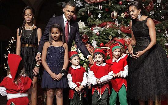 Tổng thống Mỹ Barack Obama cùng gia đình vui Giáng sinh.