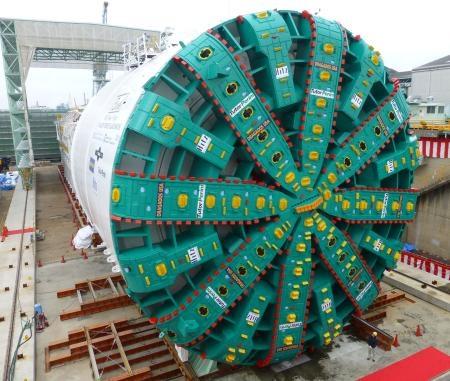 Nhật Bản ra mắt máy khoan hầm lớn nhất thế giới