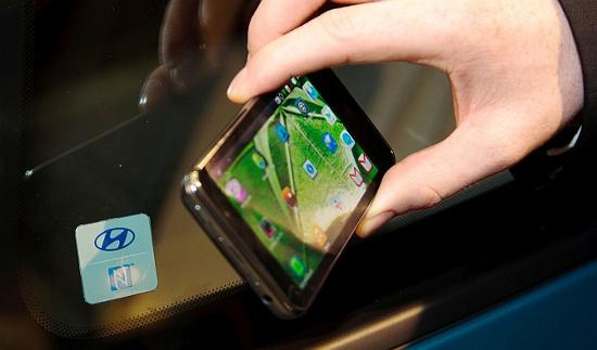 Smartphone được dùng để mở khóa ô tô