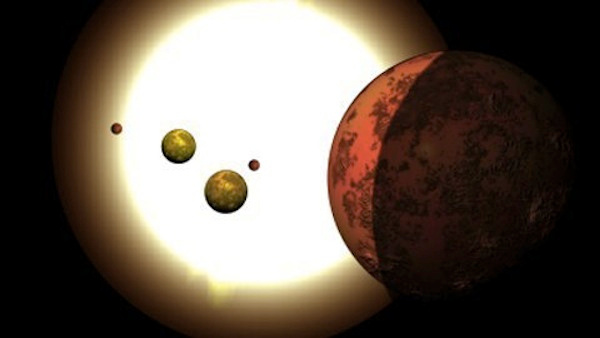 Hệ sao chen chúc nhau cách Trái đất 1.100 năm ánh sáng