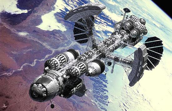Hình minh họa một loại phi thuyền trong tương lai.