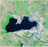 Hồ nước ngọt sa mạc Trung Quốc dần biến mất