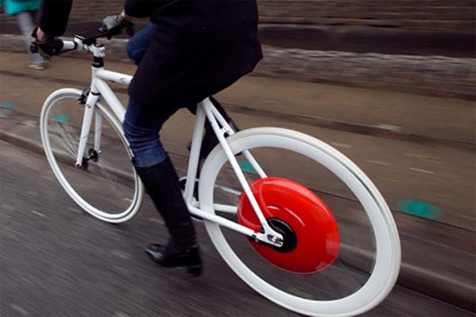 """""""Bánh xe Copenhagen"""" biến mọi xe đạp thành xe """"lai"""""""
