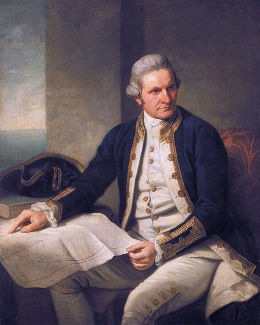 Thuyền trưởng người Anh - James Cook danh tiếng.
