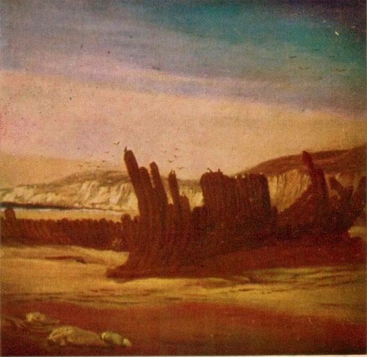 """Hình ảnh xác """"Tàu gỗ gụ"""" trong tranh vẽ"""