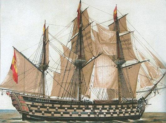 Mô hình tàu Santa Anna của đế chế Tây Ban Nha