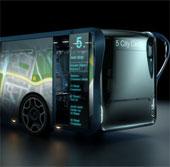 Ý tưởng xe buýt với các thành xe là màn hình LCD