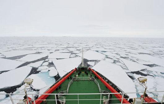 Tàu phá băng của Trung Quốc mang theo đoàn thám hiểm gồm 256 thành viên tiến về Nam Cực hôm 7/11.