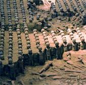 Phát hiện áo giáp chiến binh đất nung của Tần Thủy Hoàng