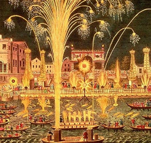 Trình diễn pháo hoa trên sông Thames, London
