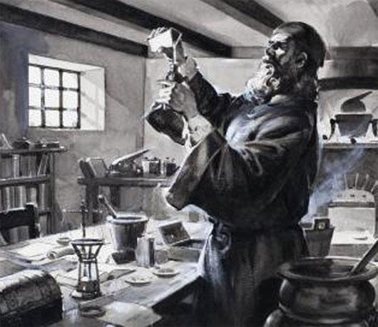Tu sĩ Roger Bacon (1214-1294) người đầu tiên nghiên cứu thuốc súng tại châu Âu