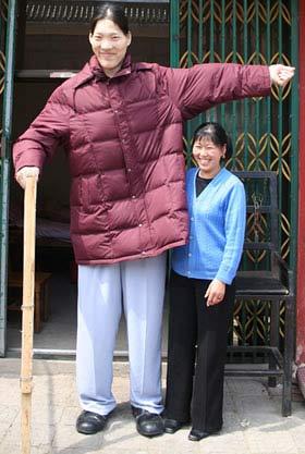 Chị Yao Defen cao 2.36m