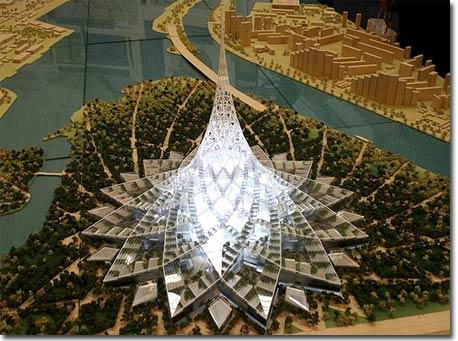 Xây dựng toà tháp pha lê tại Nga