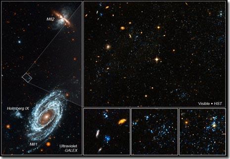 """Phát hiện những """"đốm xanh"""" trong vũ trụ"""