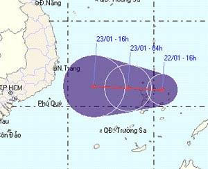 Lại xuất hiện áp thấp nhiệt đới trái mùa