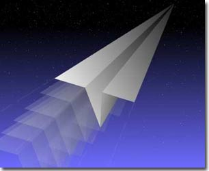 Máy bay giấy phóng từ trạm không gian quốc tế