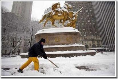 Tuyết lớn kỷ lục ở New York