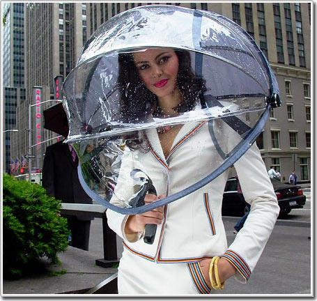 Ô che mưa không cần tay cầm